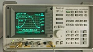 Agilent Hp 8591c Cable Tv Analyzer 1 Mhz 1 8 Ghz Tracking Gen opt 011 107