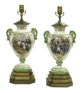Antique Lamps Urn Pair Of French Porcelain Urns Converted To Lamps Gorgeous