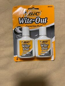 Bic Wite out Quick dry Correction Fluid 20 Ml Bottles White Pack Of 2 Niob