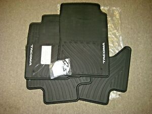 Toyota Tacoma Double Cab All Weather Black Rubber Floor Mats Oem New 2005 2011