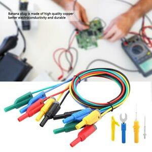P1050b Multimeter Test Leads With Crocodile Clips Replaceable Probe Tips Set