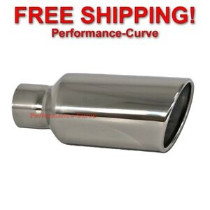 Stainless Steel Truck Diesel Suv Exhaust Tip 3 Inlet 5 Outlet 12 Long