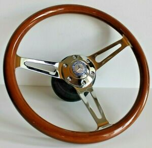 Steering Wheel Fits Mercedes Benz Wood Walnut W123 W124 W126 W201 R107 1979 92
