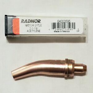 Victor 2 1 118 Acetylene Cutting Torch Tip Gouging Scarfing St2600 Ca2460