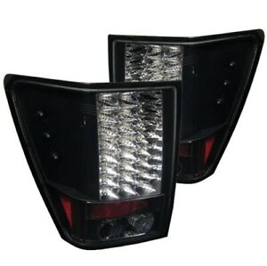 Spyder 5005526 Led Tail Lights Black For 2005 2006 Jeep Grand Cherokee 2pc New