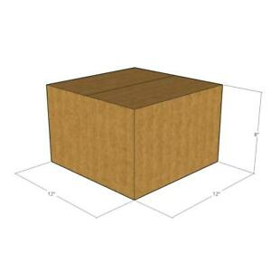 25 12x12x8 32 Ect New Corrugated Boxes