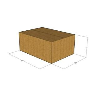 25 14x10x6 32 Ect New Corrugated Boxes