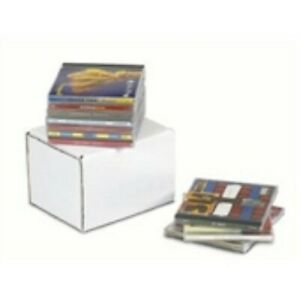 100 5 13 16x5x1 2 Cd Jewel Case Corrugated Mailer Holds 1 Cd White