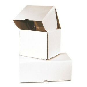 100 14 1 2x7 1 4x5 Outside Tuck Corrugated Mailer White That Ships Flat