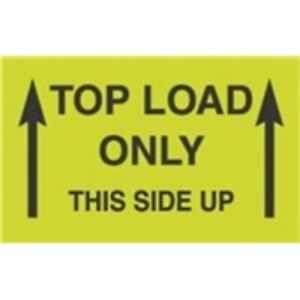 1000 dl2701 3x5 Top Load Only Label This Side Up arrows