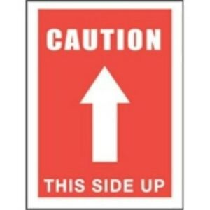 1000 dl1491 3x5 Caution This Side Up arrow Label
