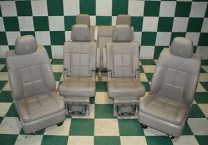 09 14 Navigator Gray Leather Heated Cooled Buckets Rear Captains 3rd Row Seats