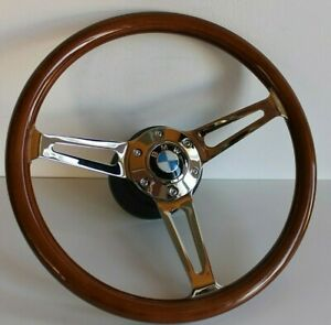 Steering Wheel Bmw Wood Walnut Classic Vintage 350mm E32 E34 E36 Z3 Wooden