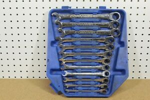 Cornwell Tools 12 Pc Metric Ratcheting Box Combo Wrench Set 8 19mm