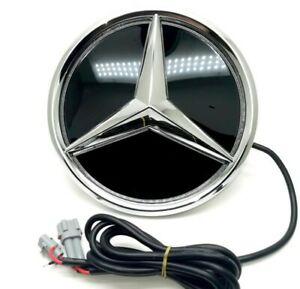 For Mercedes Benz 2016 2019 W213 Front Grille Grill Mirror Star Emblem Led Light