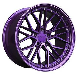 Xxr 571 20x10 5 5x120 35et Diamond Cut Purple Wheel