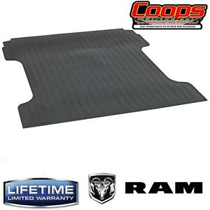 New Heavy Duty Black Bed Mat 2009 2018 Dodge Ram 1500 5 7 Bed With Rambox