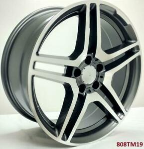 19 Wheels For Mercedes S Class S550 S560 S600 S63 S65 Staggered 19x8 5 9 5