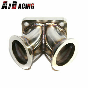 Straight Turbo Charger Flange Conversion Adapter T4 4 bolt To Twin 2 5 V band