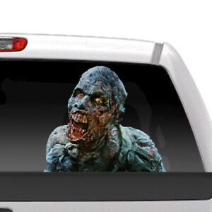 Zombie Walking Dead Realistic Tailgate Hood Window Decal Vehicle Truck Car Vinyl