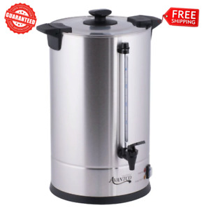 110 Cup Electric Commercial Coffee Machine Urn Brewer Warmer Silver Resto 120v