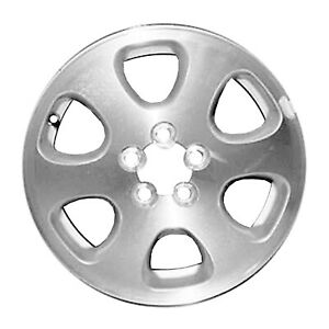 68701 Used 15x6 Alloy Wheel Rim Bright Sparkle Silver Painted With Machined Face