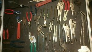 Lot Of Vice Grip Craftsman Assorted Hand Tools