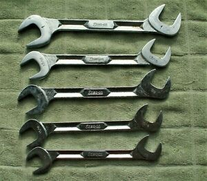 Snap On 5 Pc Angle Head Open Wrench Vs5224 5232 3 4 Thru 1 Inch