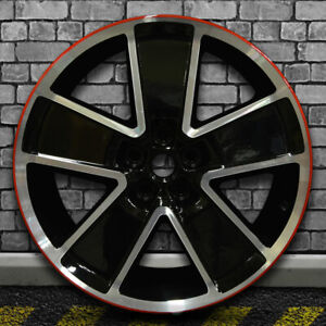 Machined Bright Black W Red Oem Front Wheel For 2012 2015 Chevy Camaro 21x8 5