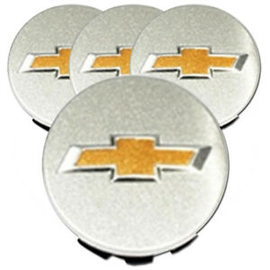 Slvr Center Caps W chevy Logo Fits 05 10 Chevy Cobalt 2 13 set Of 4