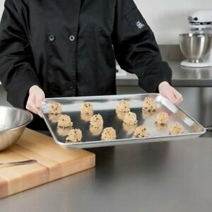 6 pack 13 X 18 Half Size Aluminum Baking Bun Sheet Pans Wire In Rim