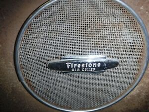 1946 47 Hudson Firestone Air Chief Am Radio Head And Box Used Oem