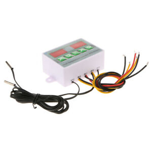 12v 24v 220v Mini Dual Digital Thermostat Temperature Controller Switch With