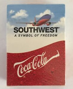 New Southwest Airlines Coca Cola Playing Cards Sealed 2003 Poker Blackjack NIB