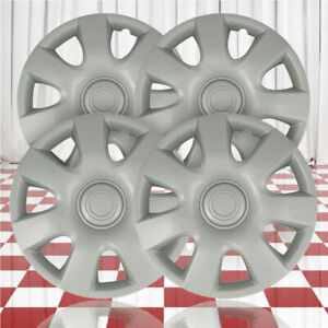 15 Push on Silver Hubcaps For 2002 2004 Toyota Camry qty Four