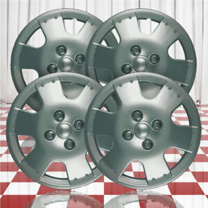 14 Push On Silver Hubcaps For 2000 2005 Toyota Echo Qty Four