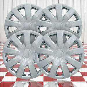 15 Push On Chrome Hubcaps For 2004 2006 Toyota Camry Qty Four