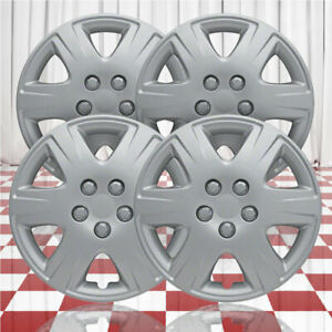 15 Push On Silver Hubcaps For 2005 2008 Toyota Corolla Qty Four