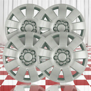 15 Push On Silver Hubcaps For 2003 2004 Toyota Corolla Qty Four