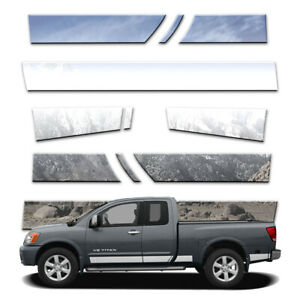 11p 5 1 2 Rocker Panels Fits 2004 15 Titan King Cab W Tool Box And Guards By Bd