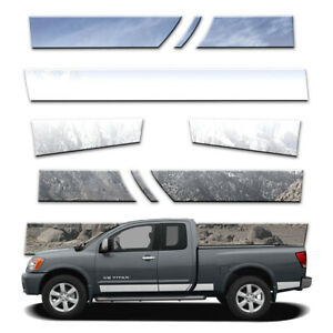 10p 5 1 2 Rocker Panels Fits 04 15 Titan King Cab W O Tool Box W Guards By Bd
