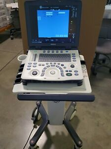 Ge Logiq V2 Portable Ultrasound System With Cart And All Options On