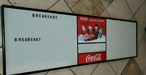 Coca Cola MENU BOARD Restaurant