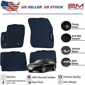 Floor Mat Rubber For Ford Fusion 2010 2011 2012 Custom Model Set 4pcs 2mplastic