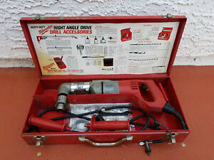 Milwaukee 1107 1 Right Angle Drill In Case Corded