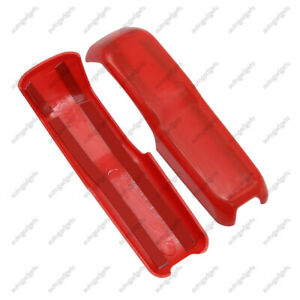 2 Engine Hood Hinge Cover Decoration Cover Stickers For Jeep Wrangler Jl Jt Red