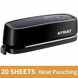 3 Hole Punch Afmat Electric Hole Punch Heavy Duty 20 sheet Punch 20 Sheets