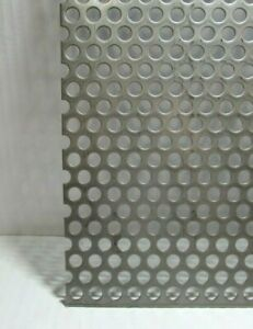 3 8 Hole 16 Gauge 304 Stainless Steel Perforated Sheet 8 X 11 1 2