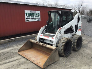 2012 Bobcat S185 Skid Steer Loader W Cab Airboss Tires Kubota Diesel 3700hrs