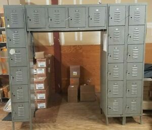 Employee Or Gym Lockers 22 Bay 84 W X 78 h Steel Qty Avail Local So Cal Pick Up